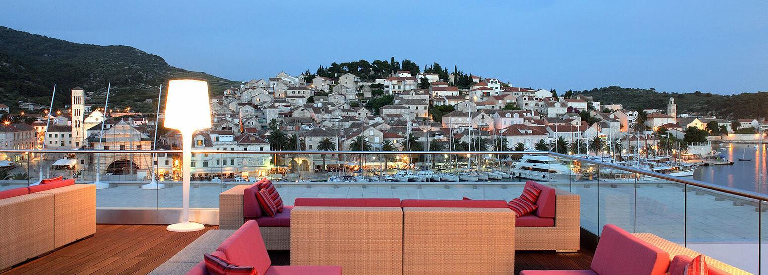 VIP terrace at Adriana Hvar Spa Hotel Croatia
