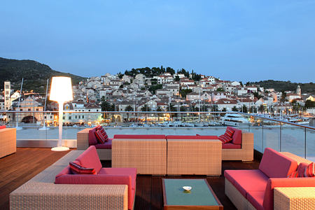 VIP terrace at Adriana Hvar Spa Hotel Croatia