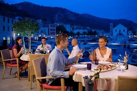 Val Marina terrace at Adriana Hvar Spa Hotel Croatia