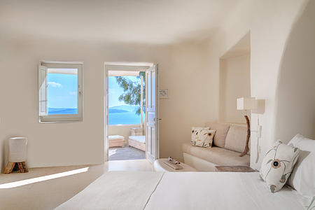 Vibrant Suite Living Area at Vedema Santorini Greece