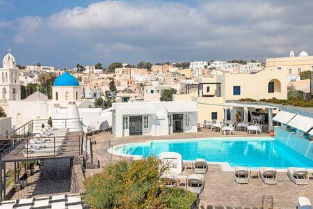 View across Vedema Santorini Greece