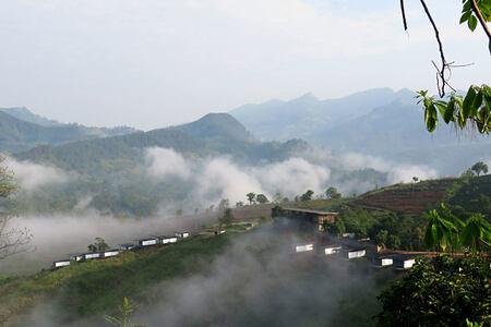 View across hills at Santani Sri Lanka
