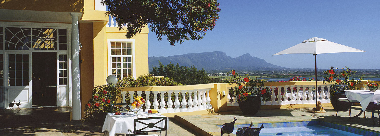 View of Table Mountain at Colona Castle Cape Town South Africa