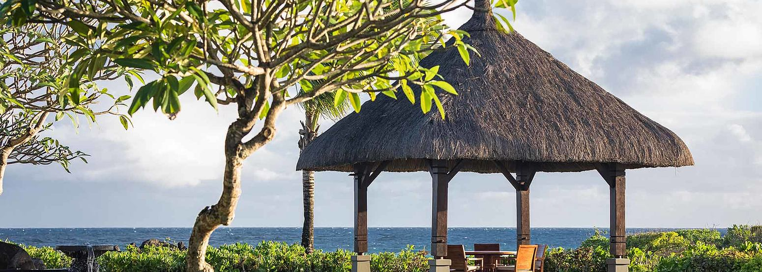 Vill private dining pavilion at Shanti Maurice Mauritius