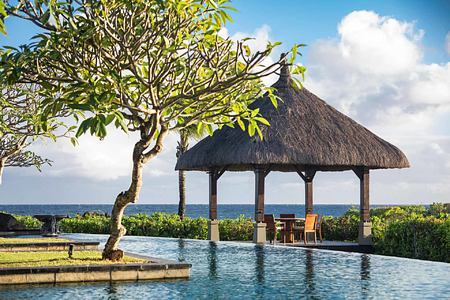 Vill private dining pavilion at Shanti Maurice Mauritius