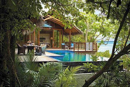 Villa and private pool at Shangri la Villingili Maldives