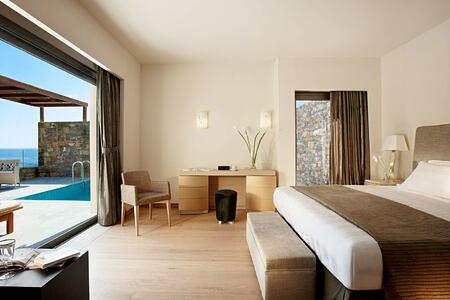 Villa bedroom at Daios Cove Crete Greece
