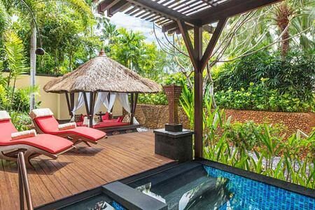 Villa suite pool at St Regis Bali Indonesia
