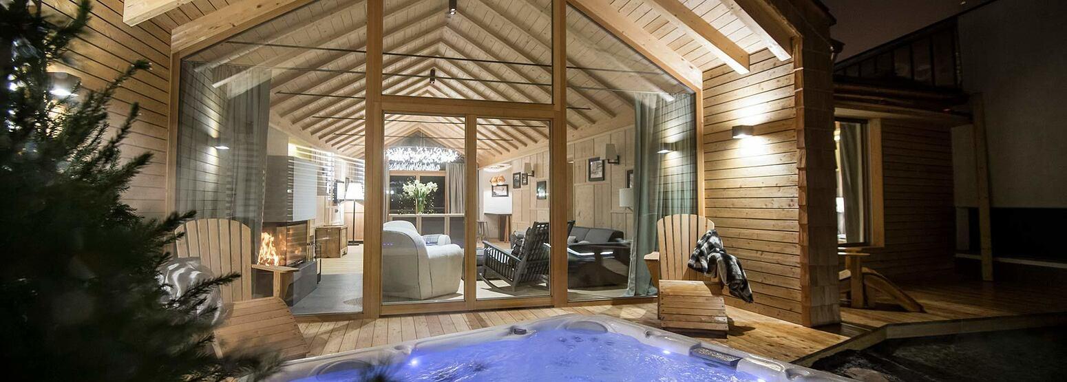Villa with private garden at Rosa Alpina Italy