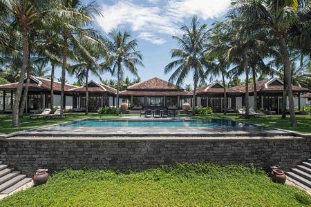 Villas and pool at The Nam Hai Vietnam