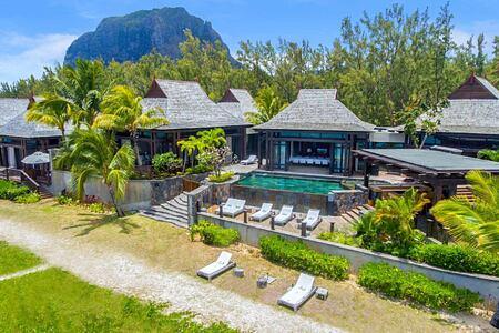 Villas exterior view at St Regis Mauritius