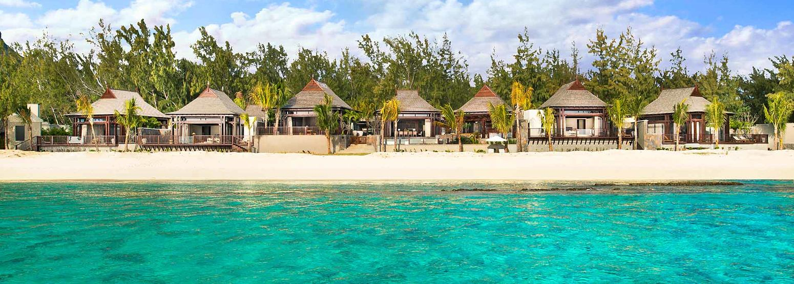 Villas from the Sea at St Regis Mauritius