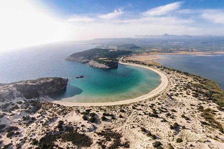 Voidokilia Beach at Romanos Costa Navarino Greece