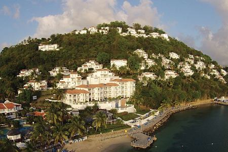 aerial view at Windjammer Landing St Lucia