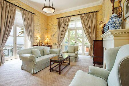 lounge at Belmond Reids Palace Madeira Portugal