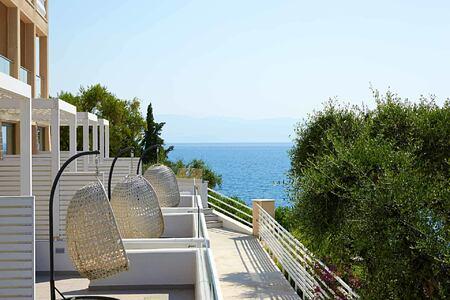 room patios at Marbella Corfu Greece
