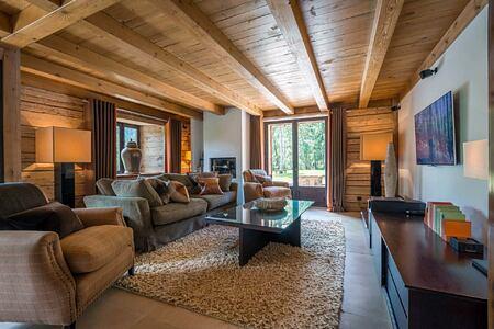 sofas in lounge at Ferme de Moudon France