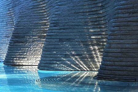 stunning pool at Tschuggen Grand Arosa Switzerland