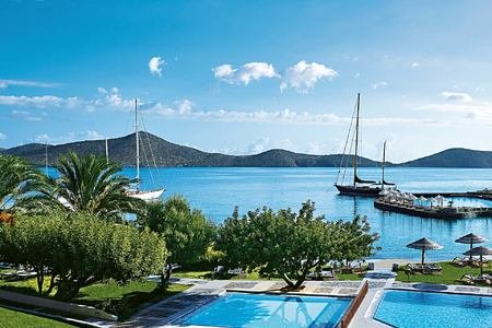 view over bay at Porto Elounda Golf and Spa Crete