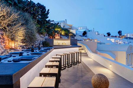 ASEA Cocktail Bar at Mystique Santorini Greece