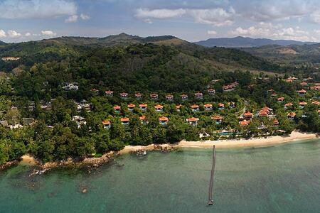 Aerial View of Trisara Phuket Thailand