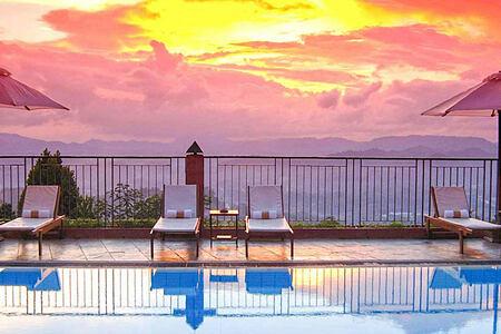 Sunset at Amaya Hills Sri Lanka