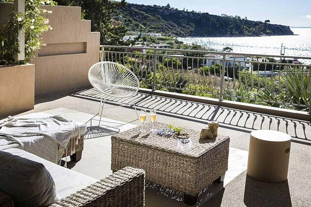 Balcony with views at F Zeen Kefalonia Greece