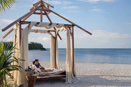 Beach Cabana dining at Le Touessrok Mauritius