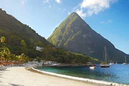 Beach at Sugar Beach St Lucia