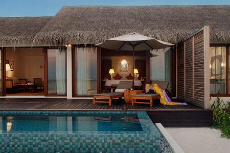 Beach pool villa at The Residence Maldives