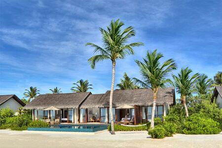 Beach villas at The Residence Maldives