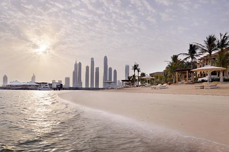 Beach with city at One and Only The Palm Dubai