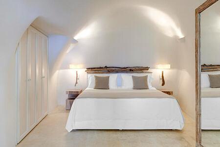 Bedroom at Mystique Santorini Greece