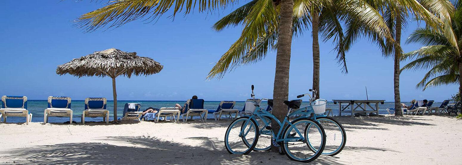 Bikes on the beach at Half Moon Jamaica