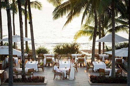 Dining on The Deck at Trisara Phuket Thailand
