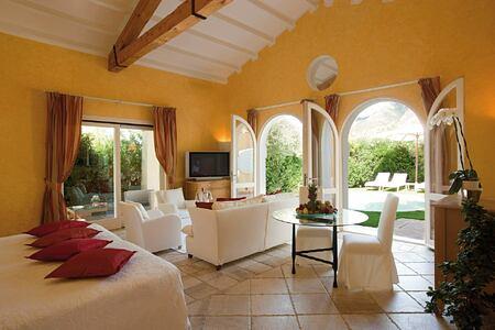 Dune Suite living area at Forte Village Le Dune Sardinia Italy