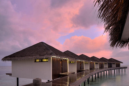 Dusk over accommodation at The Residence Maldives