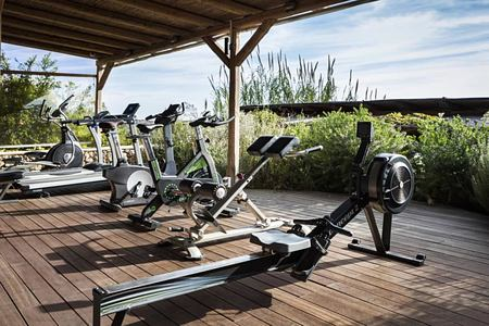 Exercise machines at F Zeen Kefalonia Greece