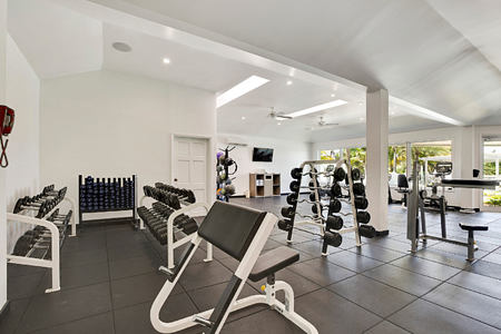 Fitness room at St James Club and Villas Antigua