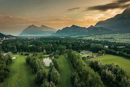 Golf course at Bad Ragaz Switzerland