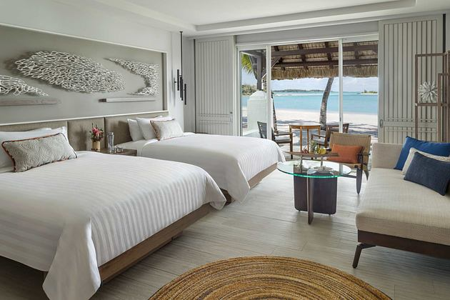 Hibiscus Deluxe Twin with Beach Access at Le Touessrok Mauritius