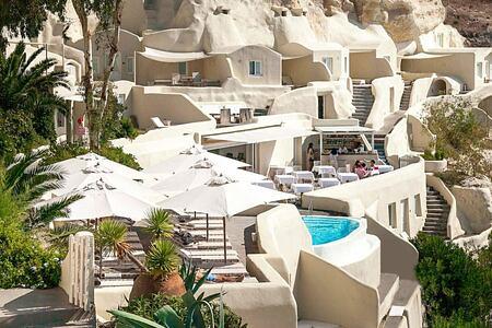 Hotel view at Mystique Santorini Greece