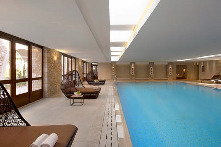 Indoor pool at Westin Resort Costa Navarino Greece