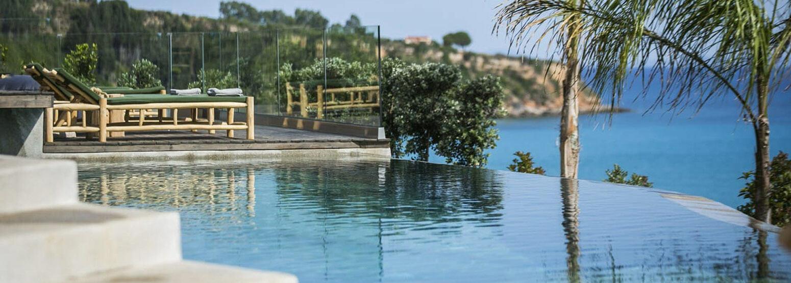 Infinity pool at F Zeen Kefalonia Greece