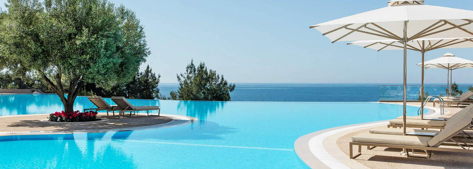 Infinity pool at Ikos Oceania Greece