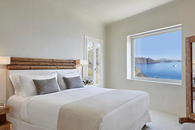 Mystery Villa bedroom at Mystique Santorini Greece