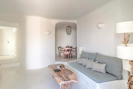 Mystery Villa living area at Mystique Santorini Greece