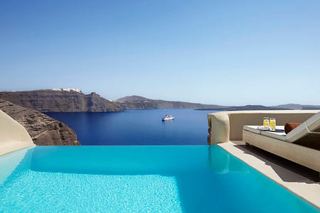 Mystery Villa private pool at Mystique Santorini Greece