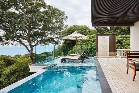 Ocean View Pool at Junior Suite at Trisara Phuket Thailand