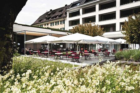 Olives Restaurant Terrace at Bad Ragaz Switzerland